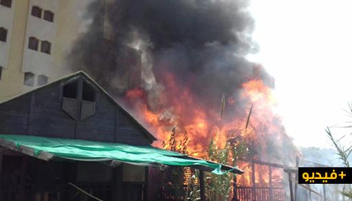 """اندلاع حريق في مبنى قريب من ميناء """"سيدي حساين"""" ببويافار.. والأسباب ما زالت مجهولة"""
