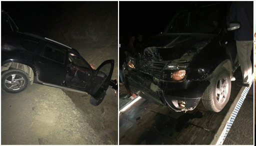 """بالصور.. المغني بدر سلطان بعد نجاته من حادث سير خطير: يصف طريق """"الحسيمة"""" بطريق الانتحار"""