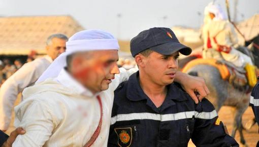 """سقوط 4 فرسان في انفجار لـ """"البارود"""" بموسم سيدي موسى ضواحي مدينة وجدة"""