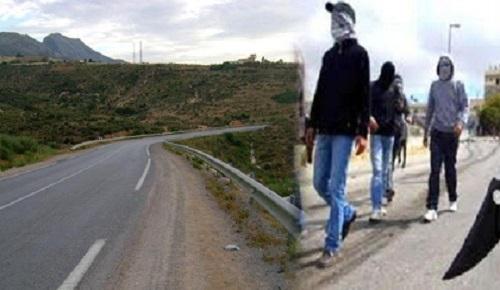 خطير: عصابة اجرامية تعترض سبيل مستعملي الطريق الرابطة بين الناظور وزايو
