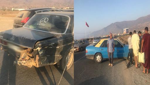 رغم بساطتها.. حادثة سير تغلق الطريق الساحلية بين الناظور والحسيمة لساعات