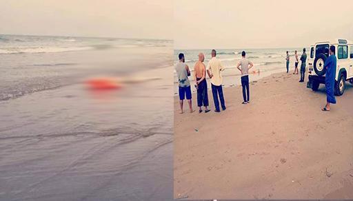 """مفجع بالصور.. شاطئ """"بوقانا"""" بضواحي الناظور يقذف بجثة شخص مجهول الهوية"""