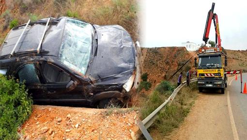 الدريوش.. إصابة شخصين في انقلاب سيارة بالطريق الساحلية بين الناظور و الحسيمة