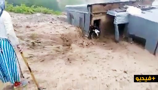 فيضانات بتلارواق ضواحي الحسيمة تجرف منازل المواطنين وتكبدهم خسائر مادية مهمة