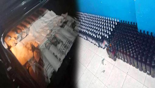 """جمارك بني أنصار تحجز كمية مهمة من """"الويسكي"""" في سيارة قادمة من مليلية"""