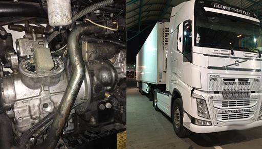 حجز كمية مهمة من الشيرا كانت مخبأة داخل شاحنة للنقل الدولي بميناء بني أنصار