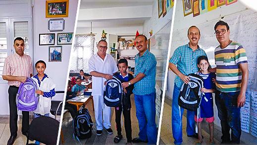 مدرسة البحتري: جمعية الوحدة و التضامن و جمعية اليتيم تختتمان توزيع الأدوات المدرسية على التلاميذ اليتامى