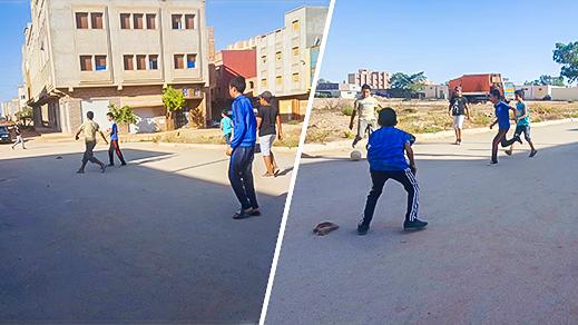 الدريوش.. غياب ملاعب القرب يدفع صغار وشباب دار الكبداني إلى مزاولة كرة القدم في الشوارع