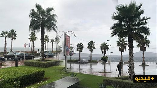 بالصور والفيديو.. هطول أولى الزخات المطرية بالناظور والنواحي