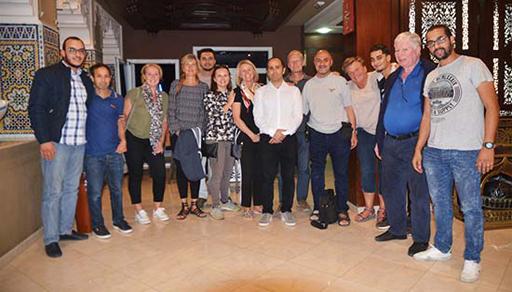 الفاعل الرياضي طارق هرواش ينظم حفل عشاء على شرف أعضاء المنظمة الهولدنية الصحة للجميع