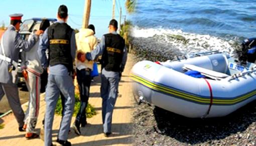 درك رأس الماء يفكك شبكة للهجرة السرية ويعتقل 6 أشخاص بحوزتهم سيارات وزورق مطاطي ومبالغ مالية