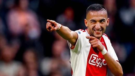 الريفي حكيم زياش يكشف عن مستقبله مع نادي أياكس الهولندي