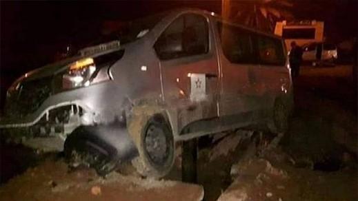 حادثة سير تخلف إصابات في صفوف طاقم تلفزي بالقرب من الناظور