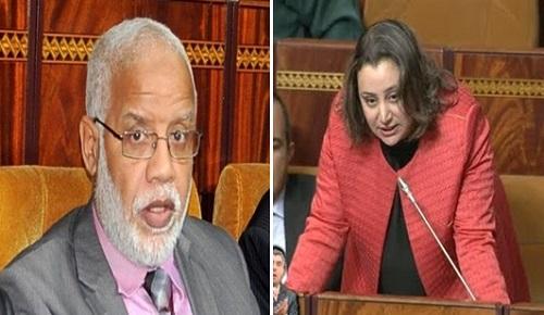 """مثير.. برلمانية الناظور """"ابتسام مراس"""" تثور في وجه الوزير """"يتيم"""" بعد مغازلته """"مديرة"""" تابعة له"""