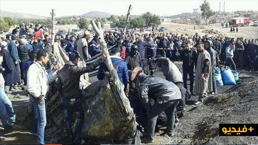 وفاة شخص في انهيار بئر للفحم بجرادة ومخاوف من وجود آخرين تحت الأنقاض