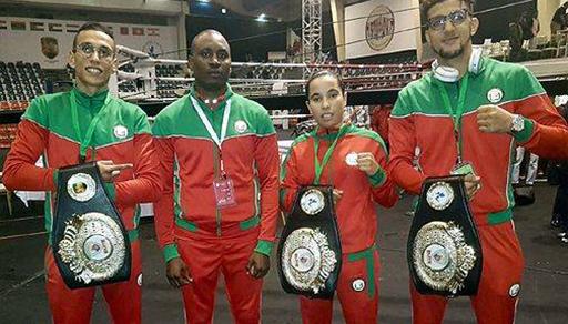 المقاتلة الناظورية كوثر باعراب تفوز بحزام أول بطولة للنخبة الدولية في المواي طاي