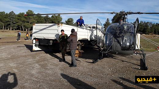بالفيديو.. إدارة المياه والغابات تستعين بمروحية للقضاء على دودة الصندل ضواحي إساكن