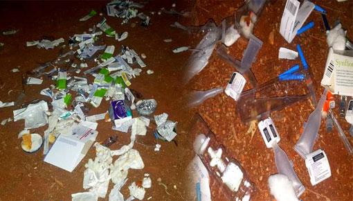 الدريوش.. مواطنون يستنكرون تخلص أطر مستوصف دار الكبداني من النفايات الطبية بالشارع العام