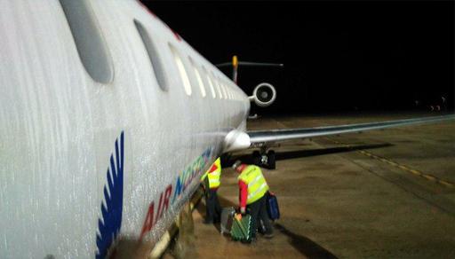 رعب داخل طائرة أقلت مسافرين من مطار مليلية الى مدينة مالقا