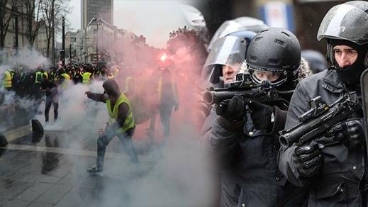 رغم تنازلات ماكرون.. السترات الصفراء تعود إلى شوارع باريس والشرطة تستخدم الغاز المسيل للدموع وتعتقل العشرات