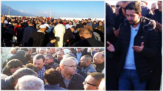 في جنازة مهيبة.. حشد غفير يُشيّع جثمان والد الإعلامي طارق الشامي بالناظور
