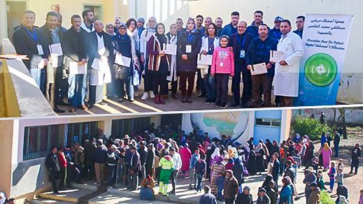 جمعية أصدقاء مرضى مستشفى محمد الخامس بالحسيمة بشراكة مع المندوبية الإقليمية للصحة بالحسيمة