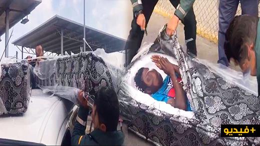 إحباط محاولة تهريب مهاجرين داخل مراتب سرير محمولة فوق سطح سيارة نفعية بمعبر فرخانة