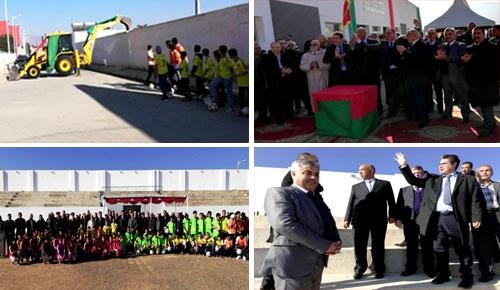 عامل إقليم الدريوش يشرف على إعطاء انطلاق أشغال الشطر الثاني من تهيئة ملعب كرة القدم بميضار