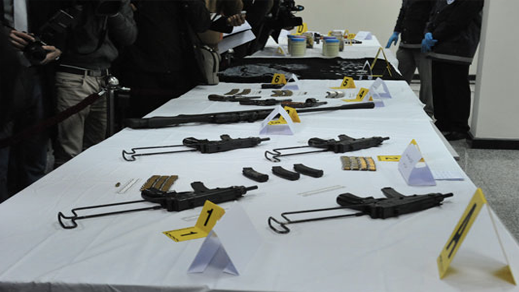 حجز أسلحة وخراطيش ومعدات لصنع قنابل لدى خلية الناظور والدريوش