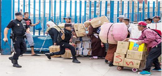 الجمارك الإسبانية بالمعابر الحدودية مع الناظور تفرض إجراء جديدا على ممتهني التهريب المعيشي