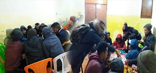حملة دفئ استهدفت أزيد من 50 مشردا وأطفال الشوارع بإقليم الناظور