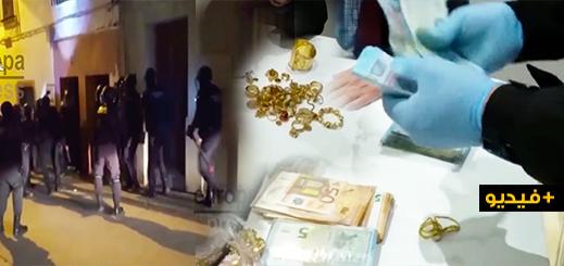 شاهدوا.. إعتقال 12 شخصا ومصادر كميات مهمة من الذهب والحشيش لدى شبكة متخصصة في تهريب المخدرات