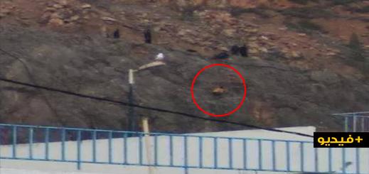 سلطات الحسيمة تنقذ شابة حاولت الإنتحار برمي نفسها  من جبل مطل على ميناء المدينة