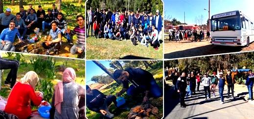 جمعية الطلبة الجامعيين بني سعيد تنظم رحلة استكشافية ترفيهية إلى تافوغالت