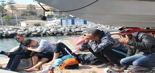 معظمهم مغاربة.. 216 مهاجرا غير شرعي يصلون الثغر المحتل منذ بداية السنة الجارية