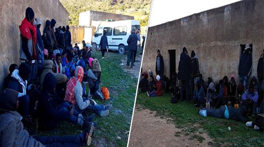 الدريوش.. توقيف مهاجرين سريين ضمنهم فلسطيني ويمنيين ببناية مهجورة قرب تمسمان