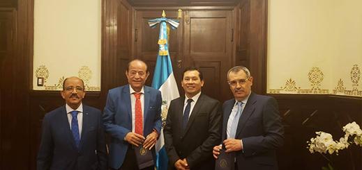 عبد القادر سلامة يجري مباحثات بكونغرس غواتيمالا