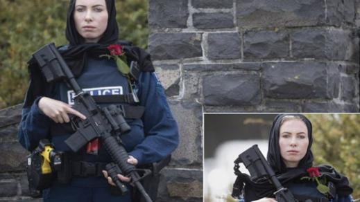 من تكون الشرطية المحجبة التي حملت سلاحا ووردة حمراء في نيوزيلندا