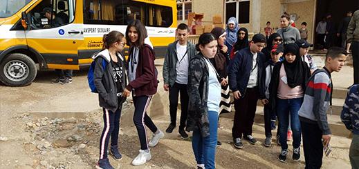 بالصور.. تلاميذ أبناء الجالية المغربية بمدينة أميان يزورون أماكن تاريخية بجماعة تمسمان