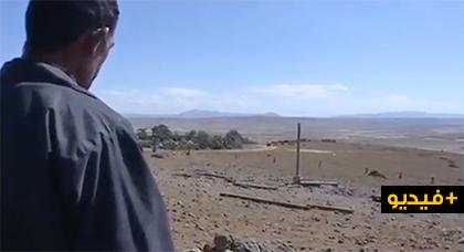 """بالفيديو.. الغازات المجهولة التي يلفظها """"بئر أمجاو"""" تسببت في نفوق الماشية وضيق في التنفس ومهندسون يعكفون على تحليلها"""
