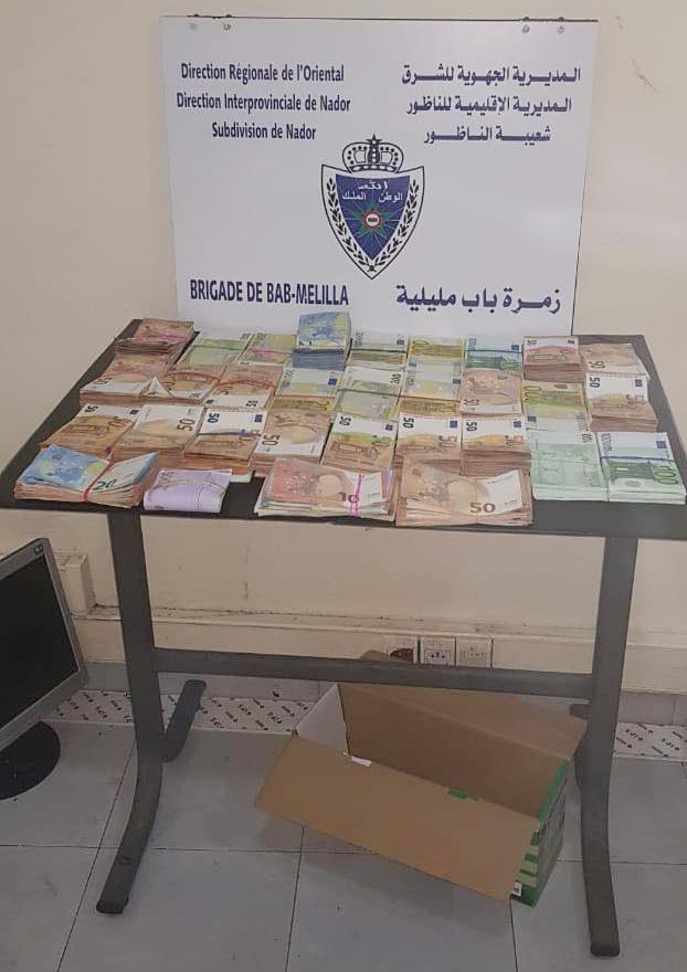 الجمارك تضبط أزيد من 150 ألف أورو لدى مغربي قادم من ثغر مليلية