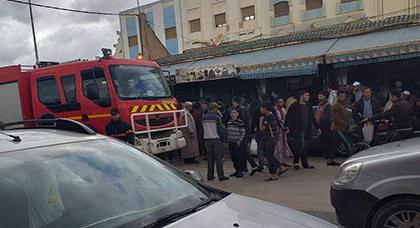 شاحن هاتفي يتسبب في حريق داخل محل تجاري ببنطيب