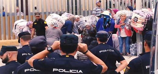 بالفيديو.. قناة إسبانية تكشف مجددا معاناة الآلاف من ممتهني التهريب المعيشي
