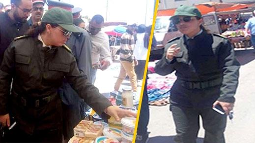 الدريوش.. قائدة المقاطعة الإدارية الأولى تصادر مواد فاسدة تهدد صحة المواطنين بالسوق الأسبوعي