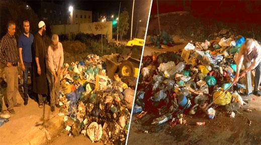أعضاء ببلدية بني انصار يقودون حملة نظافة بأحياء وشوارع بلدة فرخانة