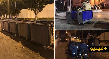 هكذا تمّ استبدال حاويات الأزبال القديمة بأخرى جديدة بعد بلوغها حالة متهالكة مزرية بمدينة الناظور