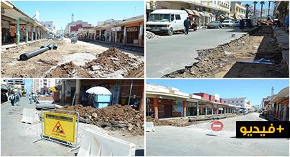 بعد شارع يوسف بن تاشفين.. عمالة الناظور تشرع في أشغال إعادة تهيئة شارع الجنرال أمزيان