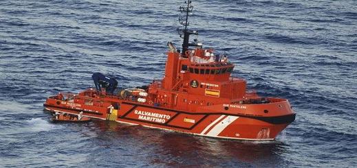 """بالفيديو.. البحرية الإسبانية تنقذ  7 """"حراكة"""" قاصرين  كانوا على متن قارب مطاطي"""
