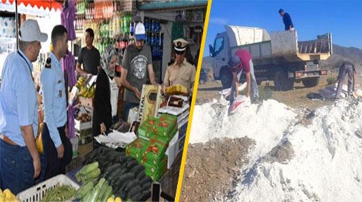 الدريوش.. اللجنة الإقليمية تحجز حوالي طن ونصف من المواد الغذائية الفاسدة بميضار