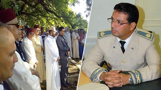 تشييع جنازة قائد قيادة الدريوش السابق محمد إديل في جو جنائزي مهيب بمسقط رأسه بتاهلة